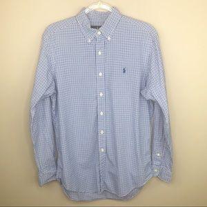 Ralph Lauren Button Down Shirt Blue Gingham